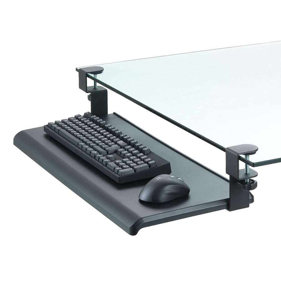 desk clamp keyboard tray exponent world. Black Bedroom Furniture Sets. Home Design Ideas